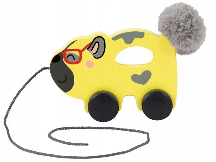 Trefl Edukačná drevená hračka Psík, žltý