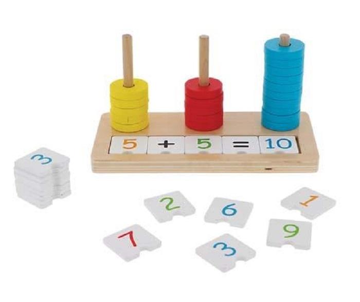 Trefl Edukačné drevené počítadlo Matematika