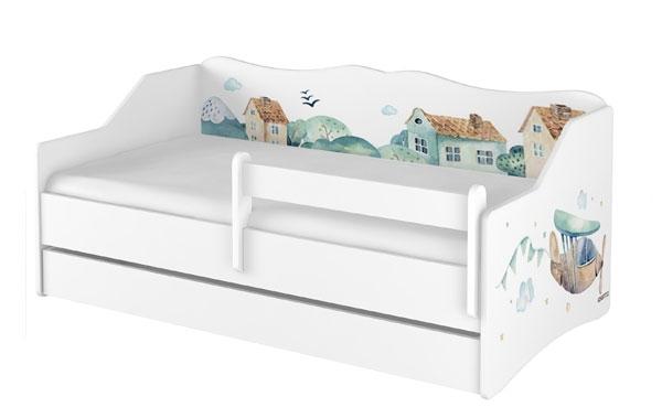Babyboo Detská posteľ LULU 160 x 80 - Lietadlo