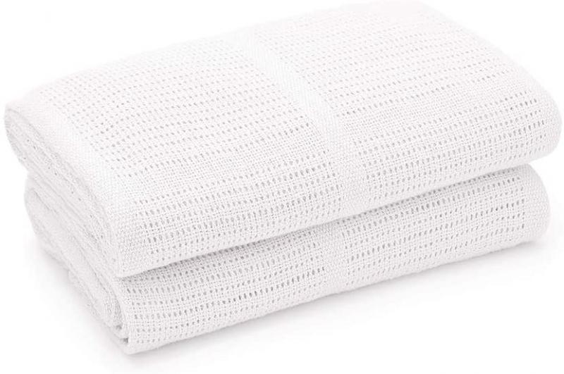 Detská háčkovaná bavlnená deka Lorelli 75x100 cm, white