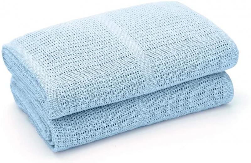 Detská háčkovaná bavlnená deka Lorelli 75x100 cm, blue