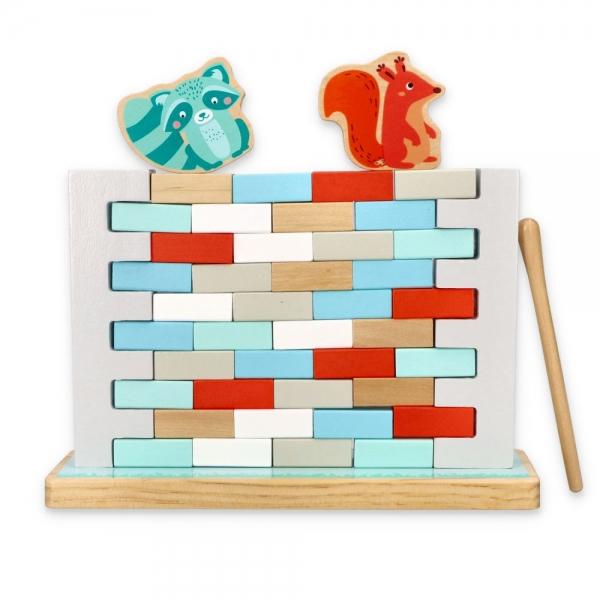 Adam Toys Drevená balančné hra - Múr