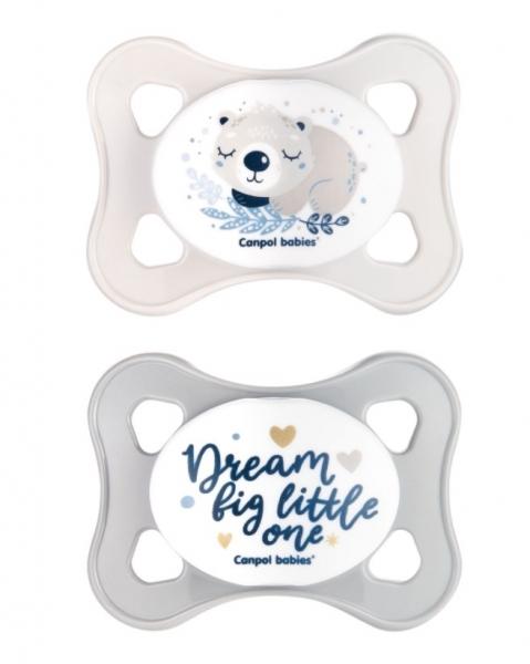 Canpol Babies Cumlíky 0-2M, Mini Soother Koala - sivé