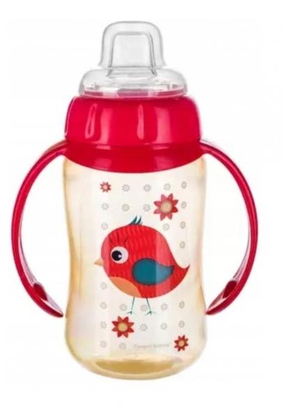 Canpol Babies hrnček s Ptáček - červený