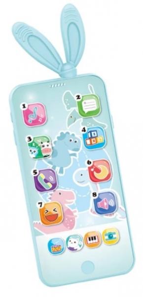 Tulimi Interaktívna hračka s melódiou - Smart Phone, tyrkysový