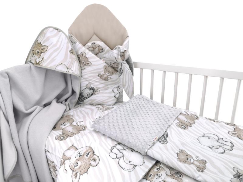 Baby Nellys 6-dielna výhod. súprava pre bábätko s darčekom,135 x 100, ZOO, béžová