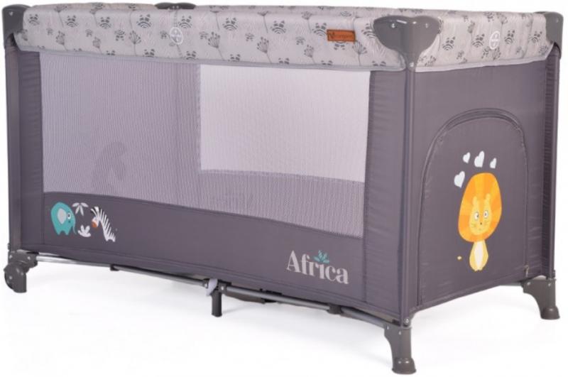 Cangaroo Detská ohrádka Africa, sivá