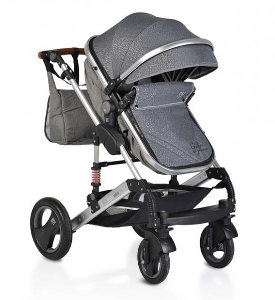 Moni Detský kočík 2v1, Gala premium 2021 - panther, šedý