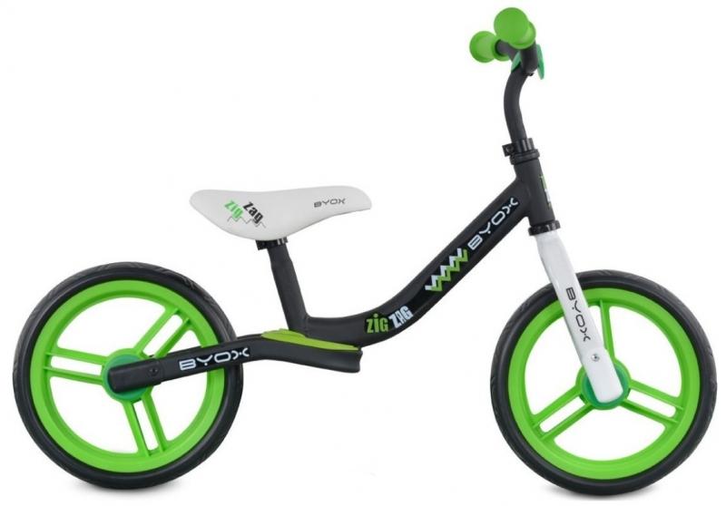 Byox Detský balančný bicykel Zig-Zag, zelené