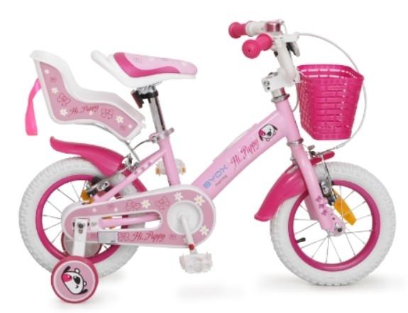 Byox Detský bicykel Puppy 12, ružové