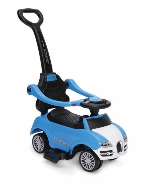 Moni Detské odrážadlo s vodiacou tyčou Smile - Rider 2 v 1 - modré