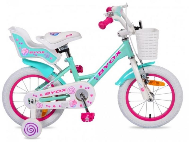 Byox Detský bicykel Cup Cake, tyrkys/ružové