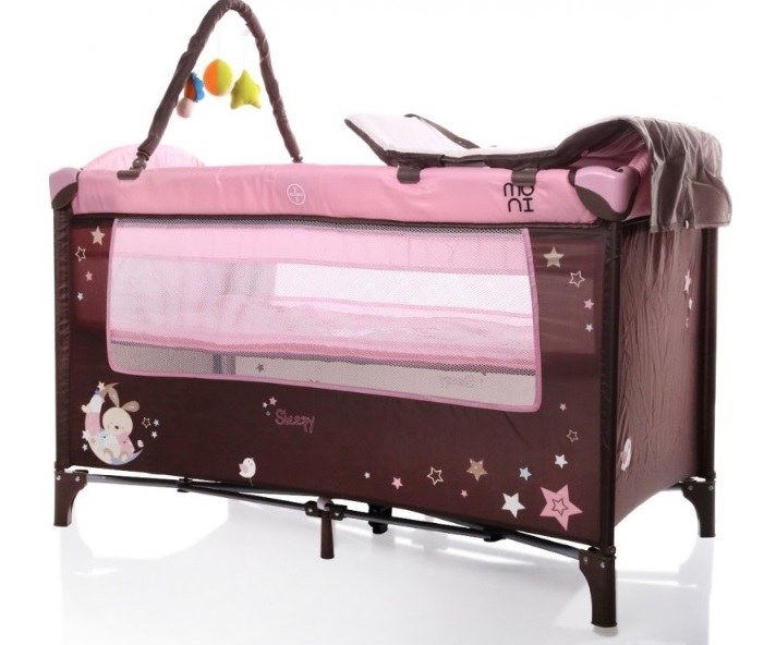 Moni Detská cestovná ohrádka Sleepy s kolieskami - růžová