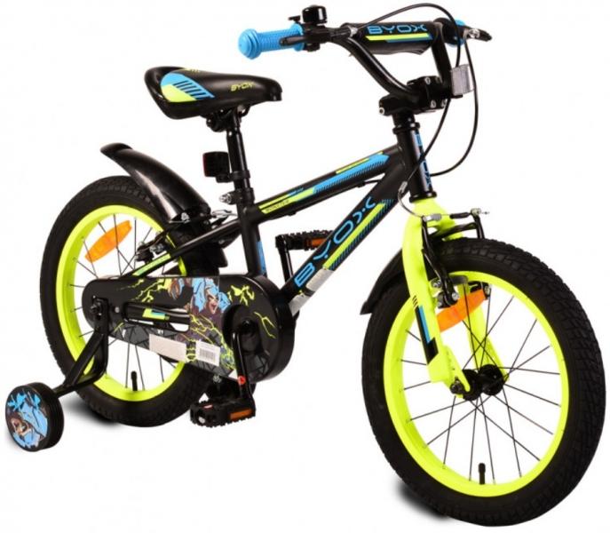 Byox Detský bicykel Monster 16, čierne