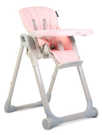Cangaroo Detská jedálenská stolička I Eat - ružová