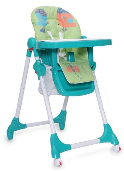 Cangaroo Detská jedálenská stolička Kimchi - tyrkysová