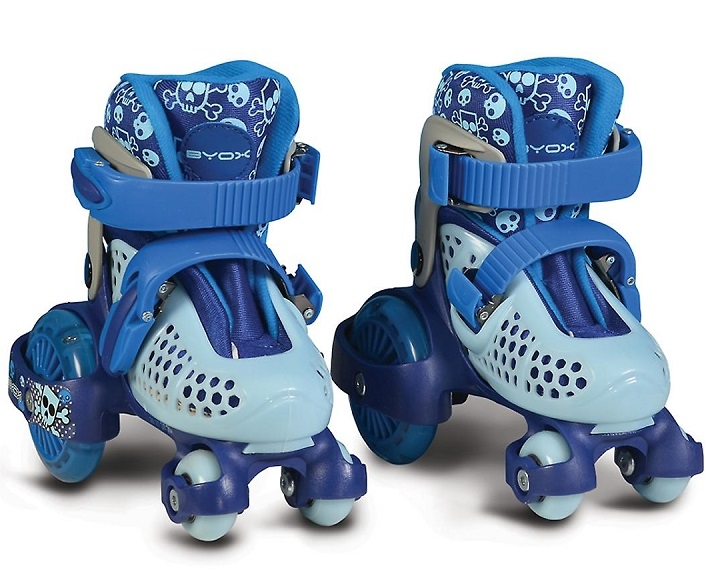 Moni Kolieskové korčule Little Beetle Boy, vel.  XS (26-29), modré