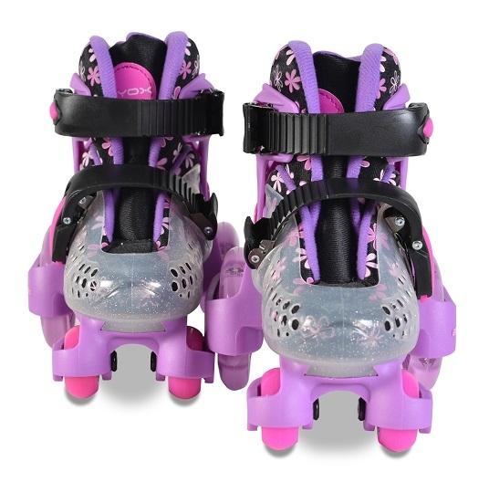 Moni Kolieskové korčule Little Beetle Violet, vel.  XS (26-29), fialové