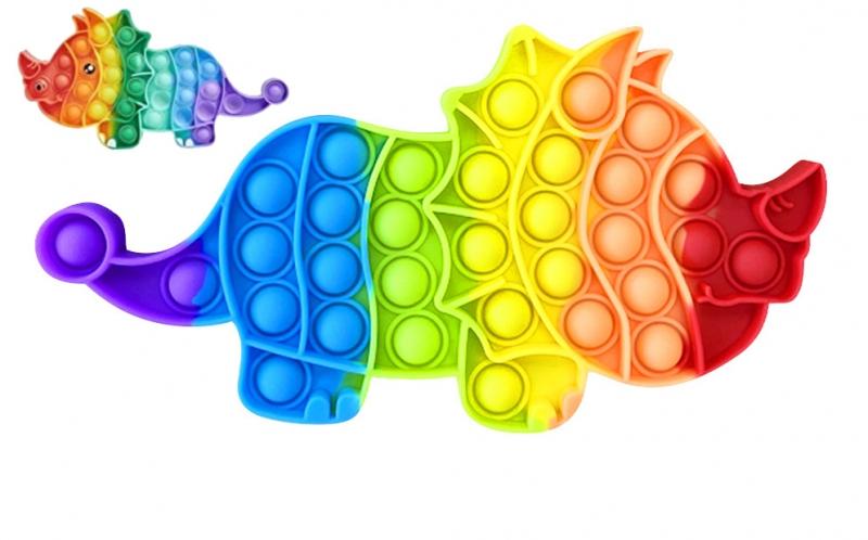 Pop It - Praskající bubliny, silikonová antistresová spol. hra, Dino