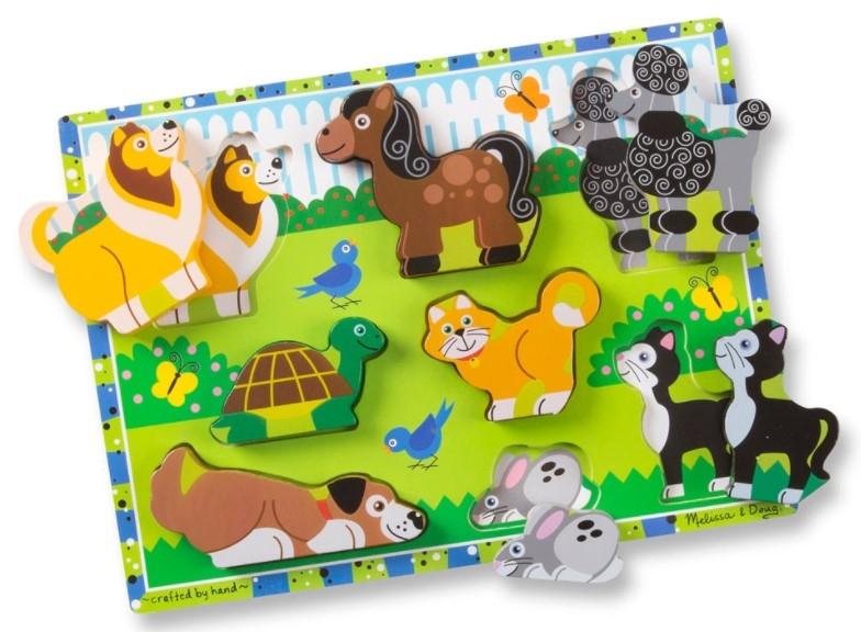 Melissa&Doug Edukačná vkladačka 3 D - Domáce zvieratká