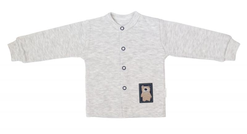 Mamatti Novorodenecká bavlnená košieľka, kabátik, Hory - sivá, veľ. 74