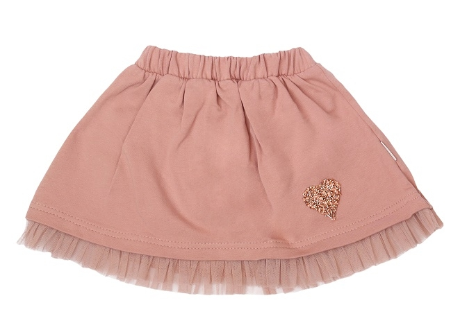 Detská bavlnená sukňa, Magnólia - púdrová