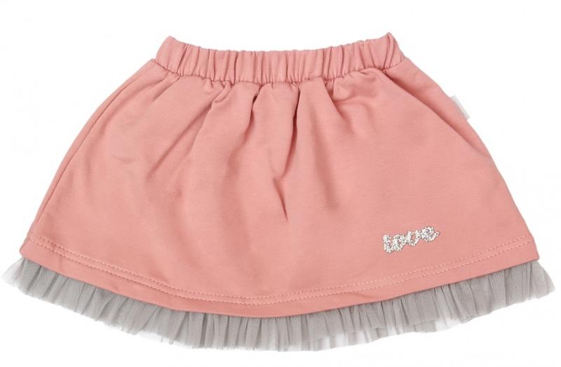 Detská bavlnená sukňa, New minnie - púdrová