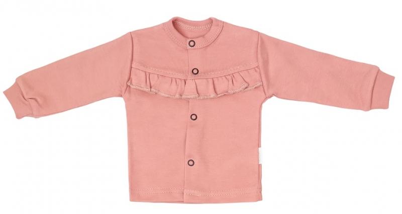 Mamatti Novorodenecká bavlnená košieľka, kabátik, New minnie - púdrová