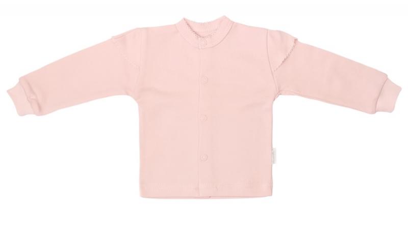 Mamatti Novozenecká bavlnená košieľka, kabátik, Magnólie - púdrová