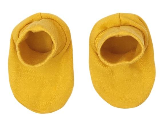 Mamatti Dojčenské topánočky, ponožtičky Hero - horčicové