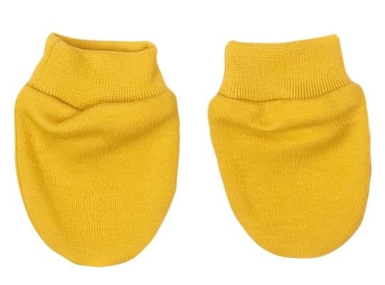 Mamatti Dojčenské rukavičky Hero, horčicové