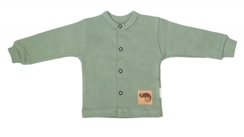 Mamatti Novozenecká bavlnená košieľka, kabátik, Auta - olivová