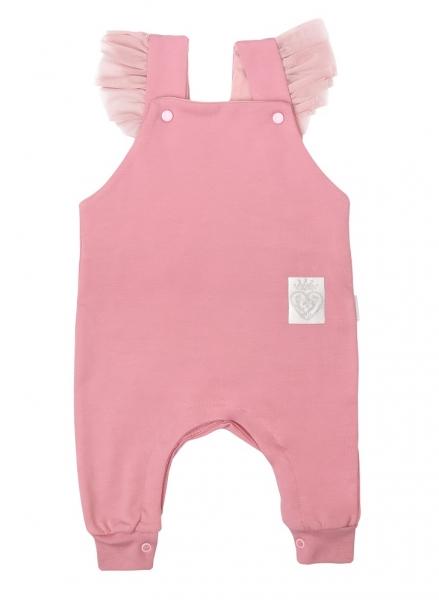 Mamatti Dojčenské laclové tepláčky, dupačky, Větvička - ružové, veľ. 80-#Velikost koj. oblečení;80 (9-12m)