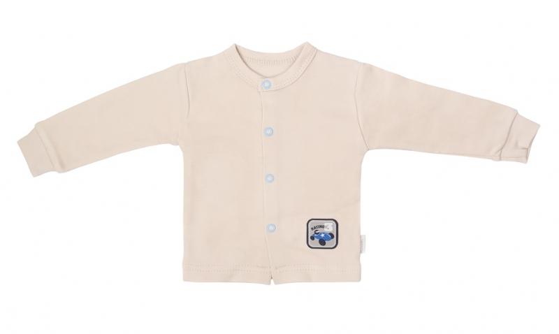Mamatti Novorodenecká bavlnená košieľka, kabátik, Čísla - béžová, veľ. 74
