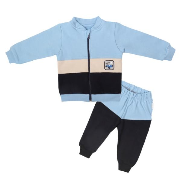 Mamatti Detská tepláková súprava zapínanie na zips Čísla - modrá, granátová, veľ. 74-#Velikost koj. oblečení;74 (6-9m)