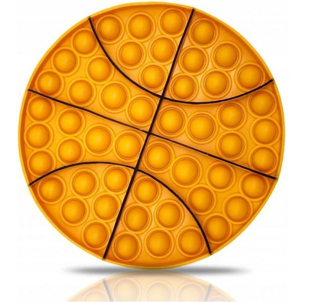 Pop It - Praskající bubliny, silikonová antistresová spol. hra, Basketbal