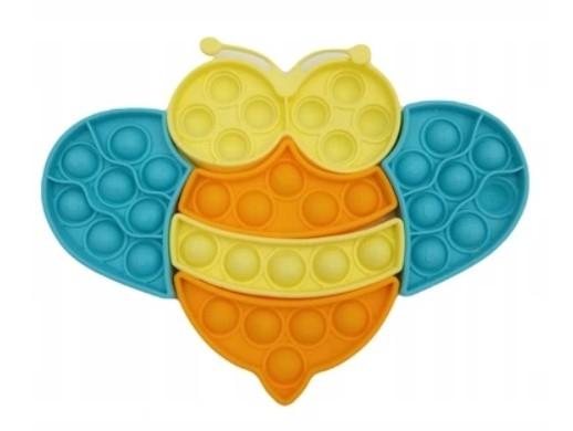 Pop It - Praskající bubliny, silikonová antistresová spol. hra, Puzzle včielka