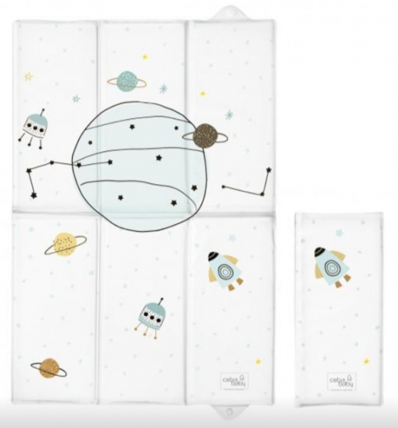 Ceba Baby Cestovná prebaľovacia podložka Candy Andy Vesmír, 60 x 40 cm