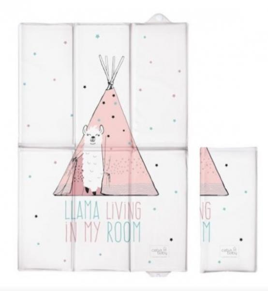 Ceba Baby Cestovná prebaľovacia podložka Lolly Polly Lama, 60 x 40 cm