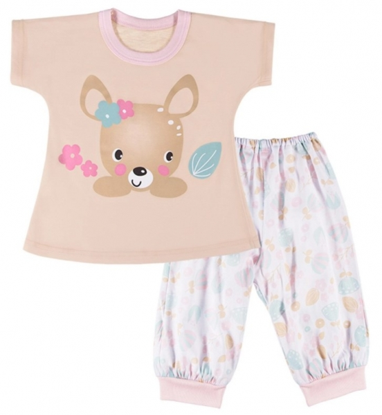 EEVI Detské pyžamo Family - bežové, veľ. 98