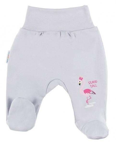 EEVI Dojčenské polodupačky Family - Plameňák, sivé