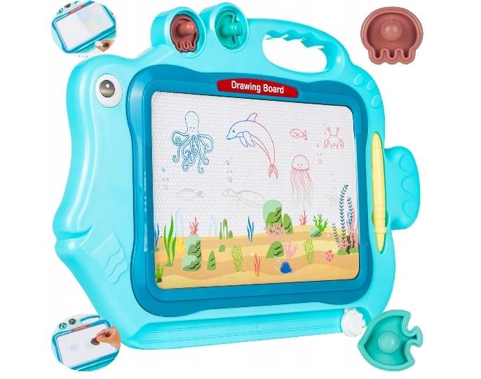 Tulimi Kresliaca tabuľka s pečiatkami, Rybka - modrá