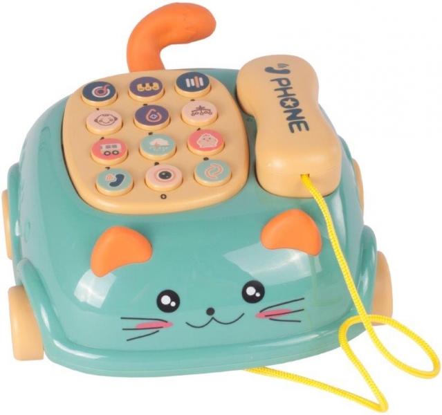 Tulimi Interaktívny telefón na kolieskach mačička - zelená