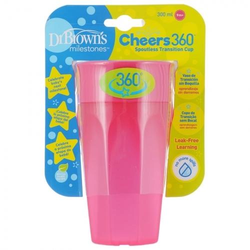 Dr.Browns Kúzelný hrnček Cheers 360 °, 300 ml, ružový