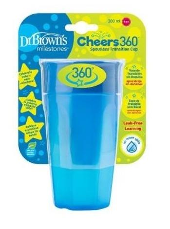 Dr.Browns Kúzelný hrnček Cheers 360 °,300 ml, modrý