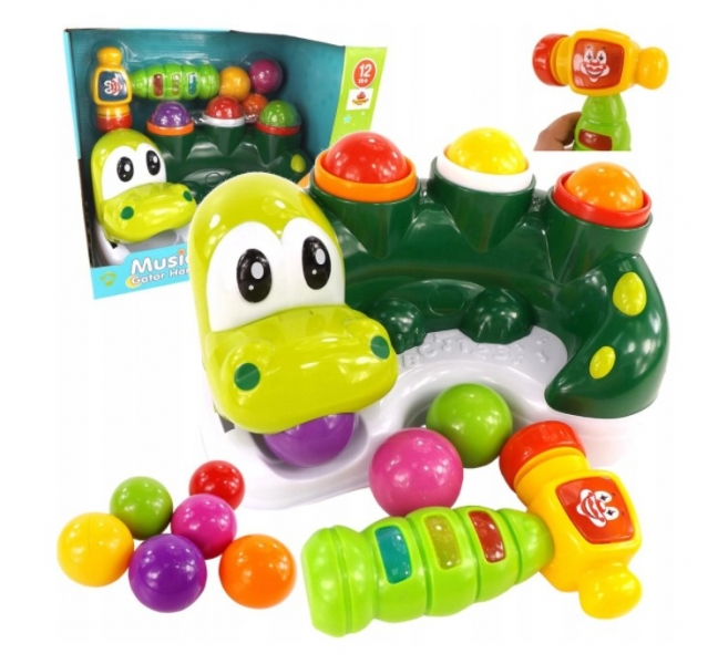 Tulimi interaktívna zatĺkačka loptičiek Krokodíl, zelený