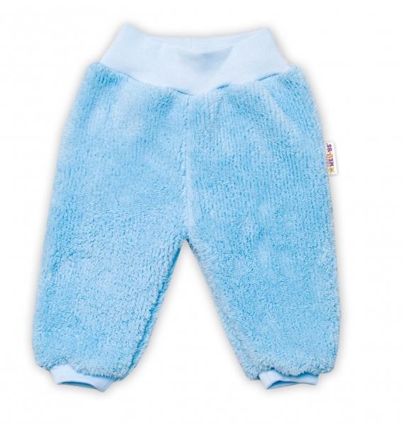 Baby Nellys Dojčenské chlupáčkové tepláčky Cute Bunny - modré