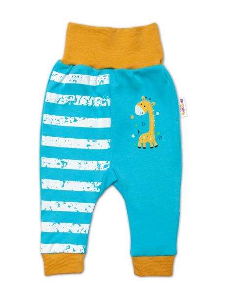 Baby Nellys Dojčenské tepláčky Giraffe, tyrkysové