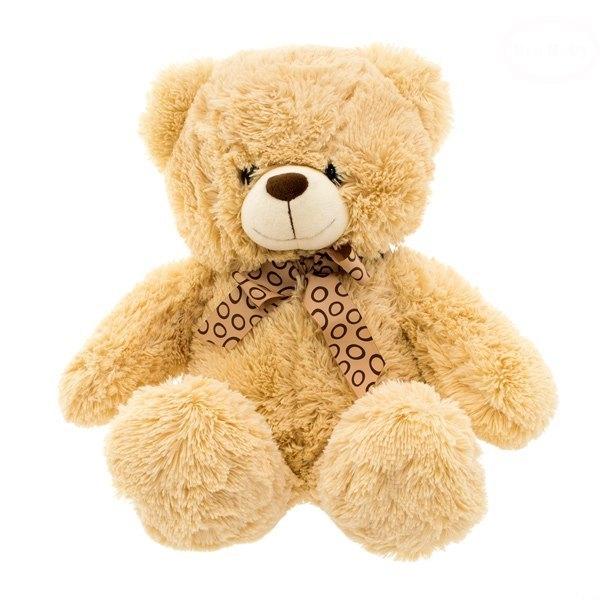 Euro Baby Plyšový sediaci medvedík 47cm - béžový