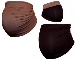 Tehotenský pás DUO - sv. hnedá s tm. hnedou